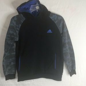 ADIDAS YOUTH MEDIUM 10/12 HOODED SWEATSHIRT